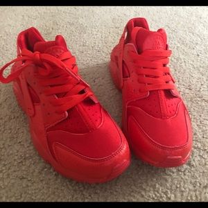 d77c2d67d979 Nike Shoes - Red huarache sneakers W size 8.5 M size 7